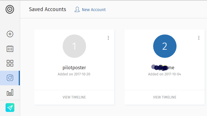 Manage Multiple Instagram Accounts on one Dashboard
