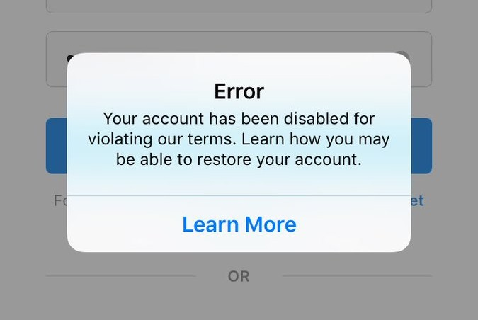 reover banned instagram account