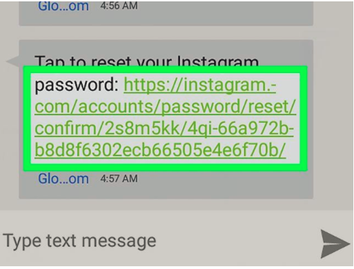 reset instagram password 2