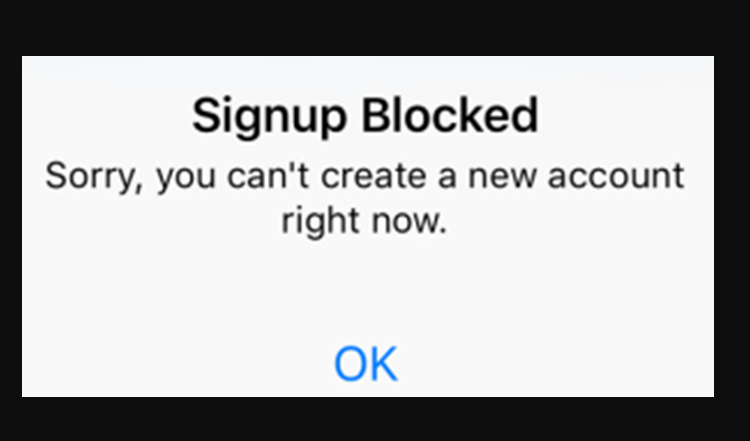 How To Fix Instagram Signup Blocked