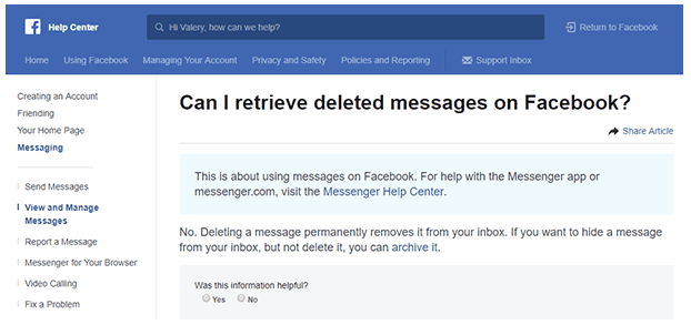 Can You Recover Permanently Deleted Messages On Facebook?