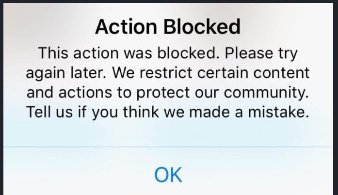 Action Blocked