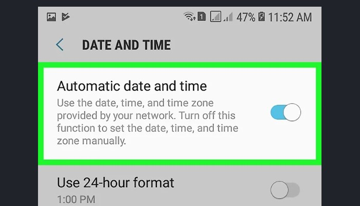 Automatic Date and Time